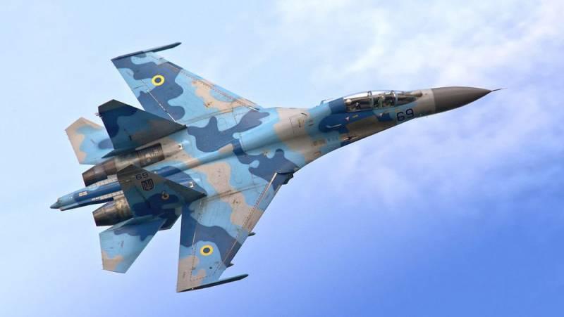 Истребитель Су-27 потерпел крушение на Украине, летчик погиб
