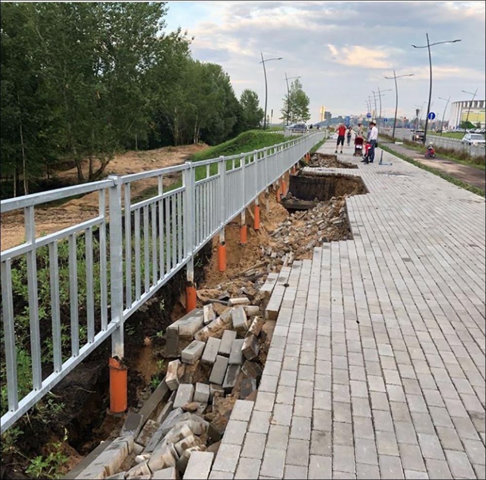 В Нижнем Новгороде ливень смыл построенные к ЧМ по футболу дороги