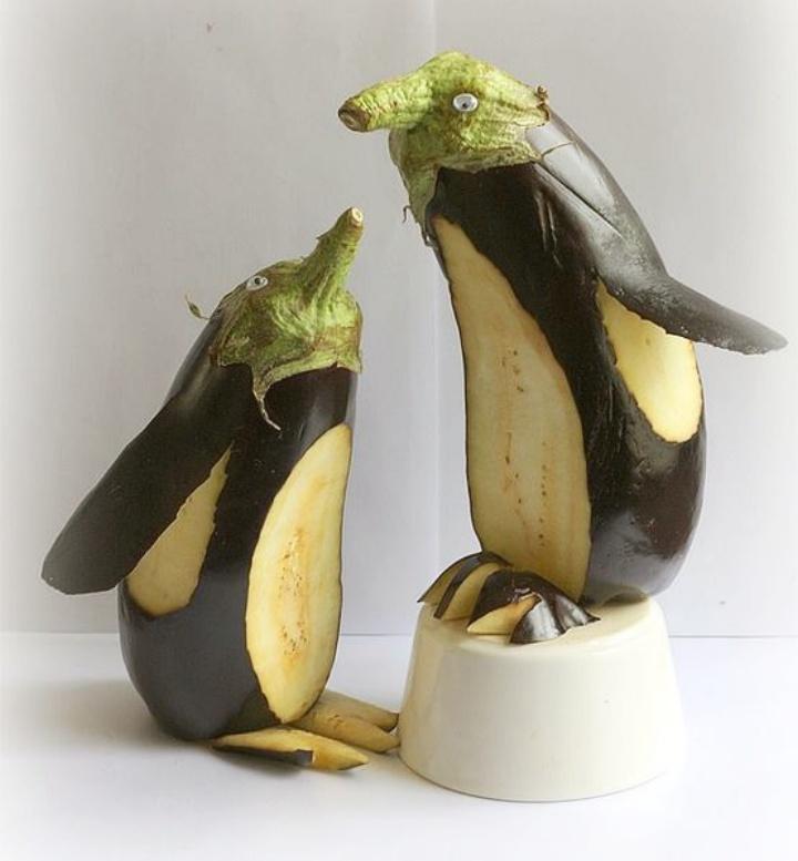 Аппетитные поделки из овощей