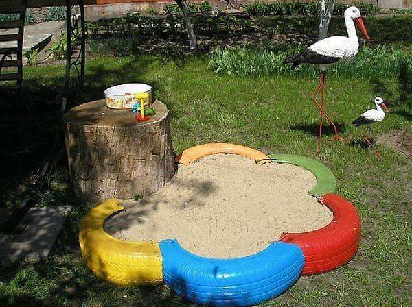 как оформить детскую площадку из подручных материалов людей нашей