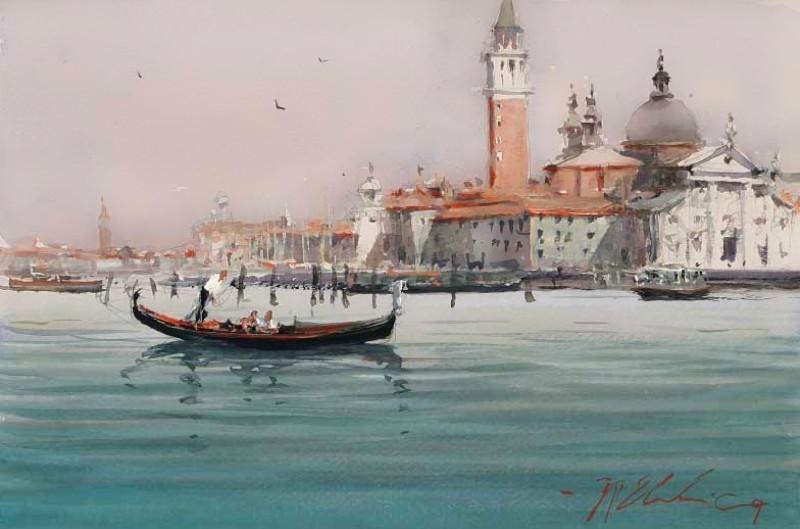 Венеция в акварели художника Joseph Branko Zbukvic