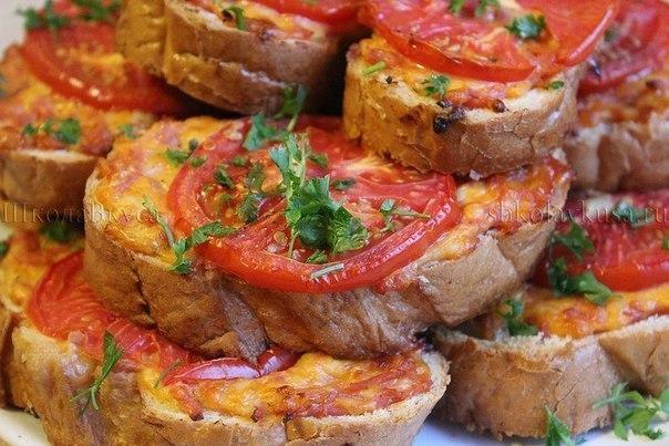 """Горячий бутерброд """"Ленивая пицца"""""""