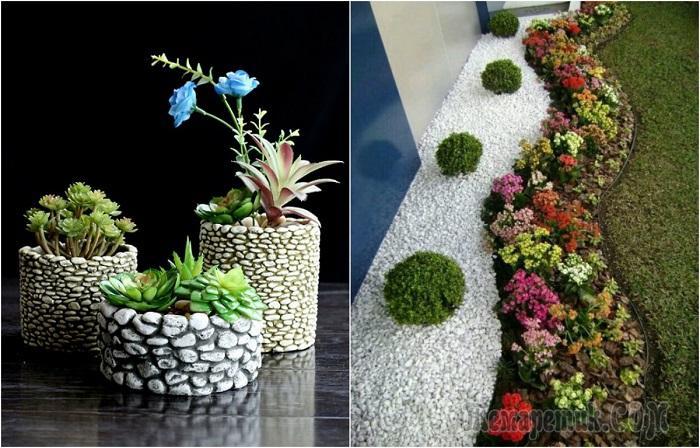 21 идея декора из морской гальки, которые непременно захочется сделать и у себя дома или во дворе