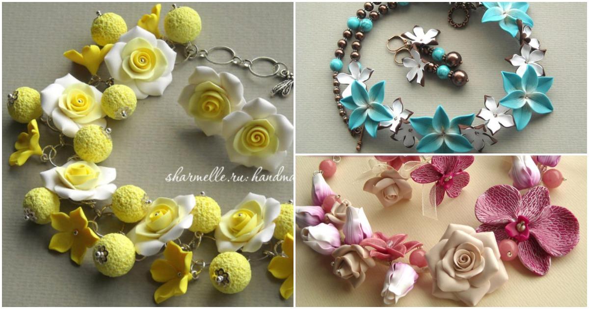 «Живые» украшения в виде ягод, цветов и птиц от талантливой мастерицы