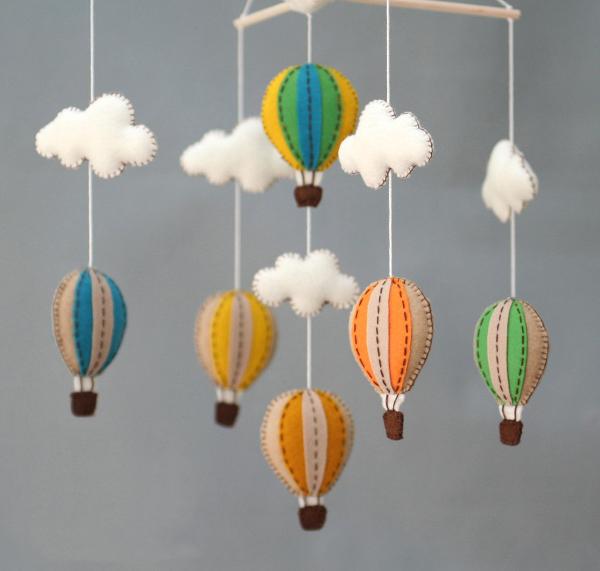 Воздушные шарики из фетра