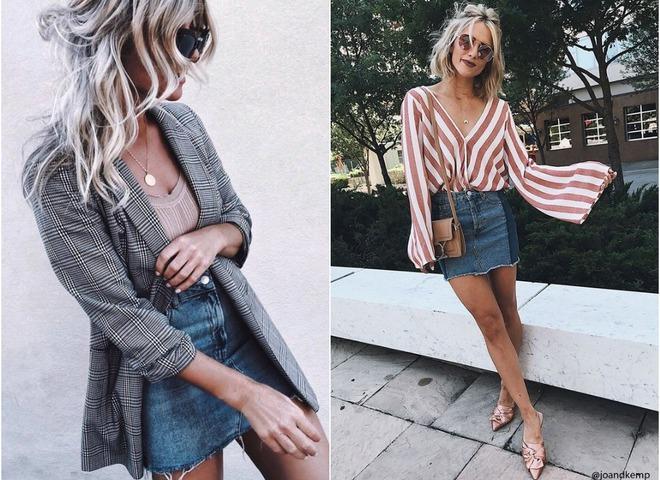 Что носить летом 2018: джинсовая юбка