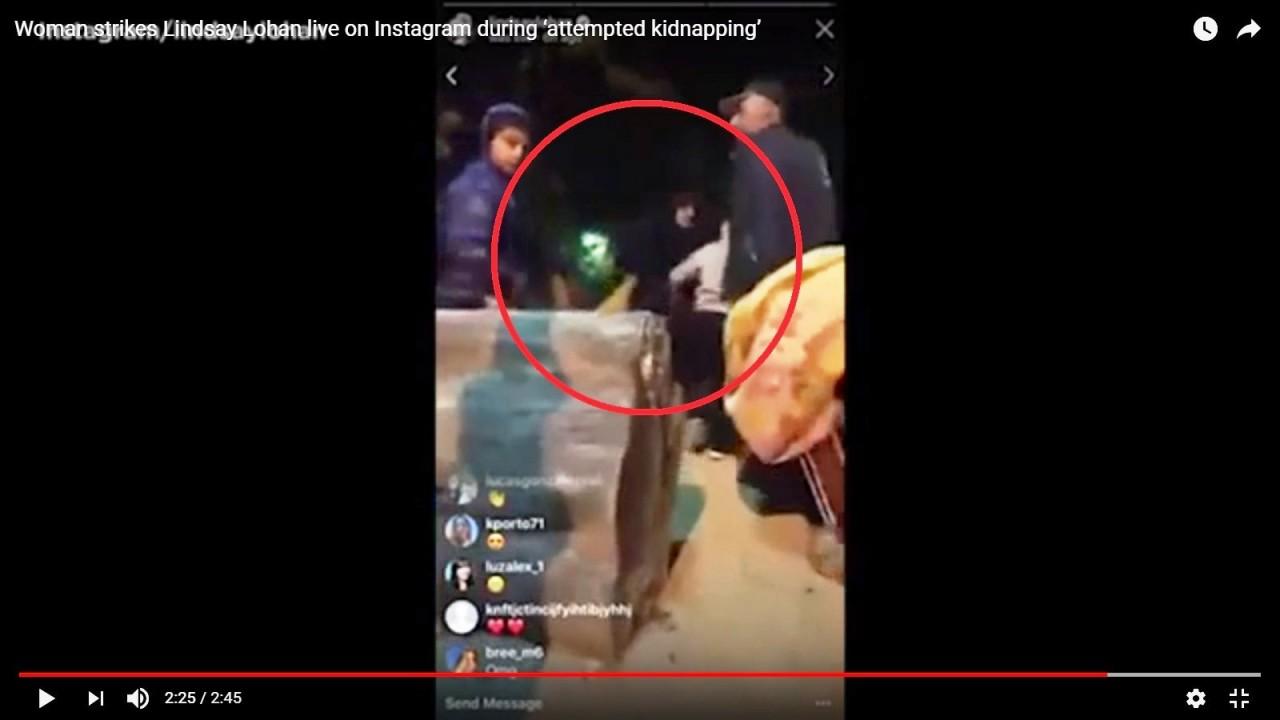 В Сети появилось видео нападения на актрису Линдси Лохан в Москве