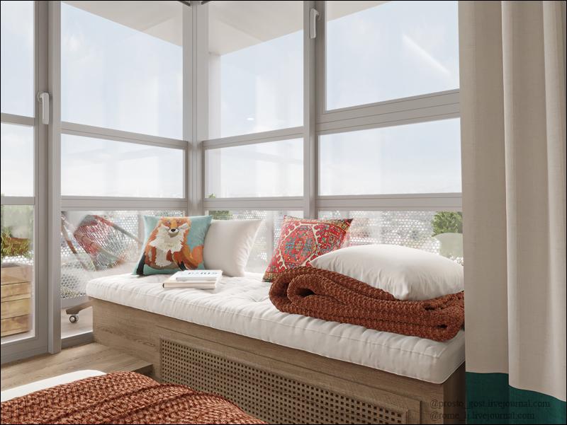 Балконы, пригодные для жизни: квартира 82 м2 увеличилась после перепланировки до 99