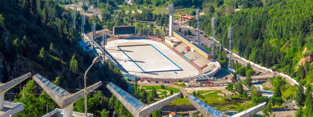 Спорткомплекс Медео летом