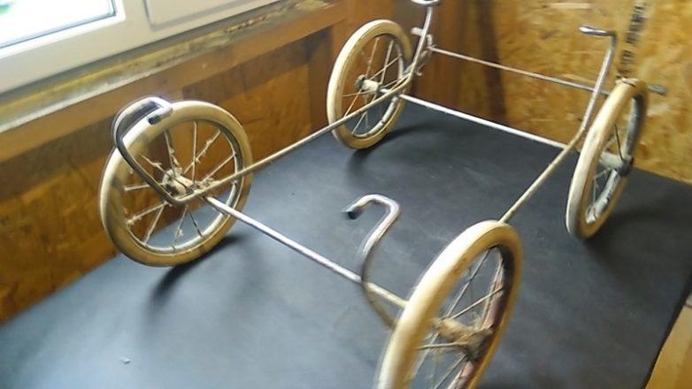 Газонокосилка из детской коляски