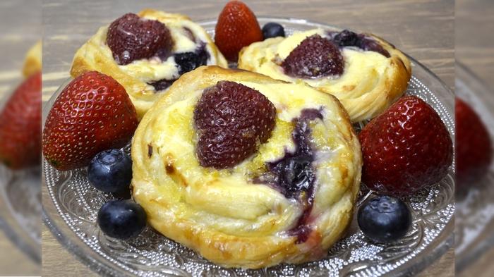 Датские пирожные с сырным кр…