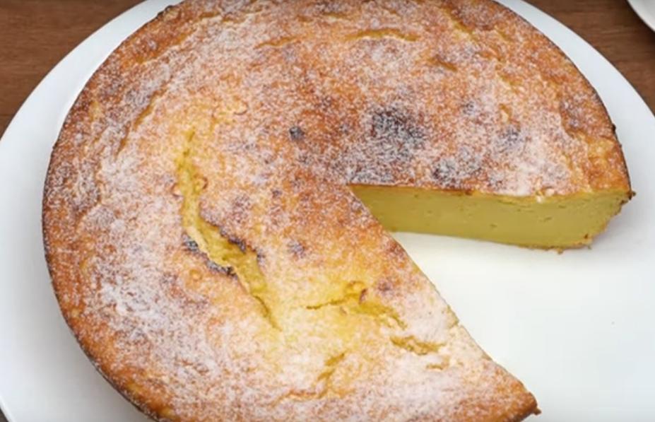 Очень аппетитный творожный пирог