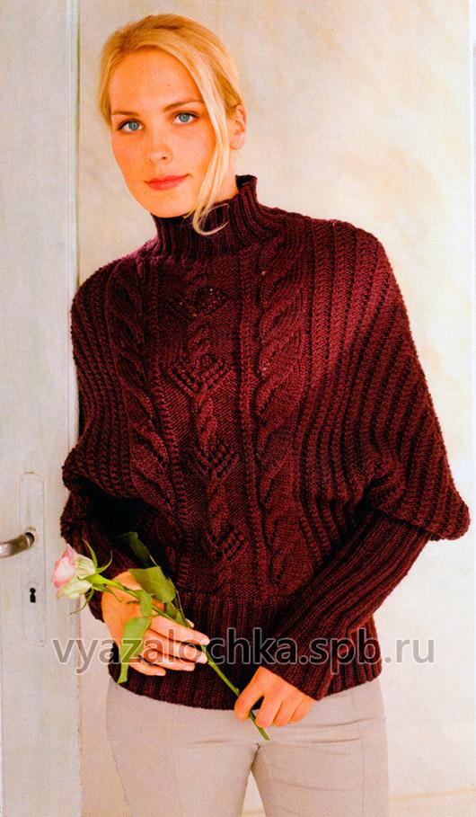 Пуловер с рукавами летучая мышь