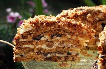 Торт медовый со сметаной рецепт с фото