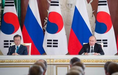 Газ, инновации и КНДР: о чем договорились Путин и Мун Чжэ Ин