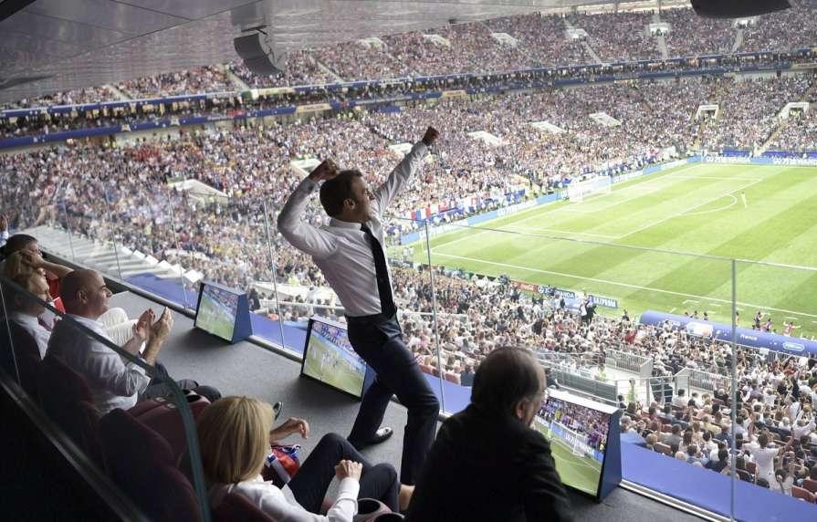 Сборная Франции вместе с пре…