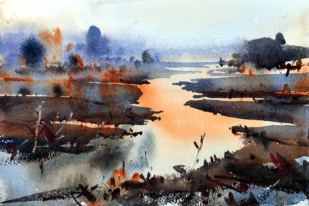 Привкус тишины и чистоты — восхитительные акварельные пейзажи Бьёрна Бернстрома (Bjorn Bernstrom)