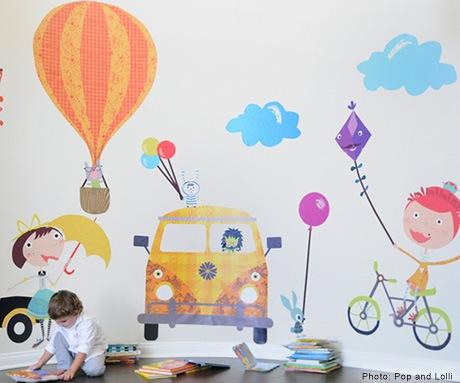 ДИЗАЙН. ДЕКОР. УЮТ. Декорируем стены в детской комнате