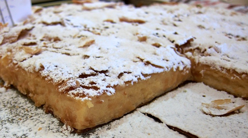 пирог с кремом