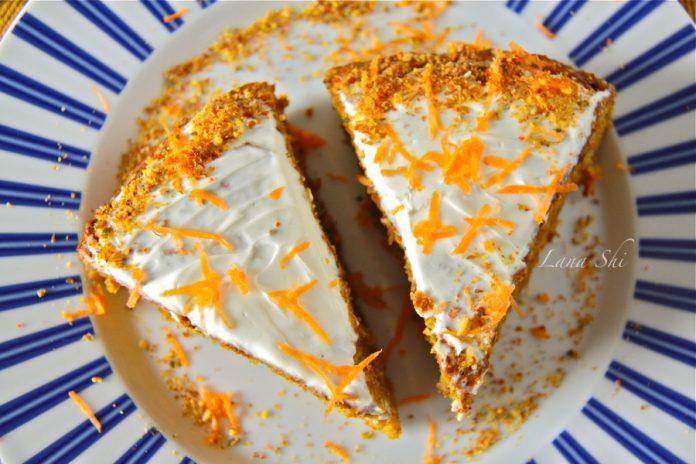 Оригинальный, а самое главное — полезный торт «Оранжевое чудо» с морковкой и апельсином