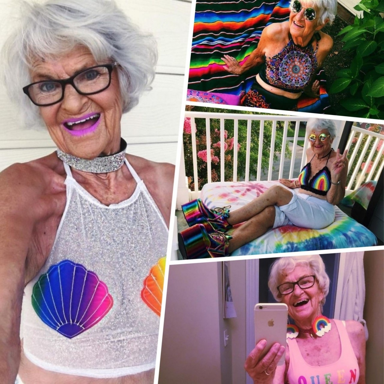 «Стареть можно не только красиво, но и круто!» или как выглядит самая классная и яркая бабушка Инстаграма?
