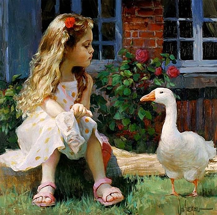 Очаровательный мир детства в живописи Владимира Волегова