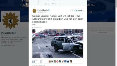 В Берлине автомобиль взорвал…