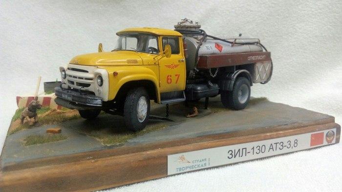 Советские грузовики в миниатюре стендовый моделизм, моделизм, длиннопост, Диорама