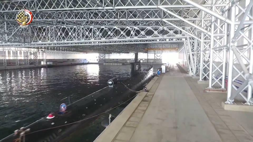 Эллинг для базирования подводных лодок в Египте