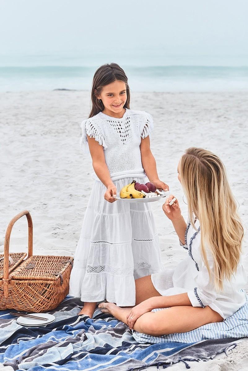Многоярусная макси-юбка для девочки - пошаговый мастер-класс
