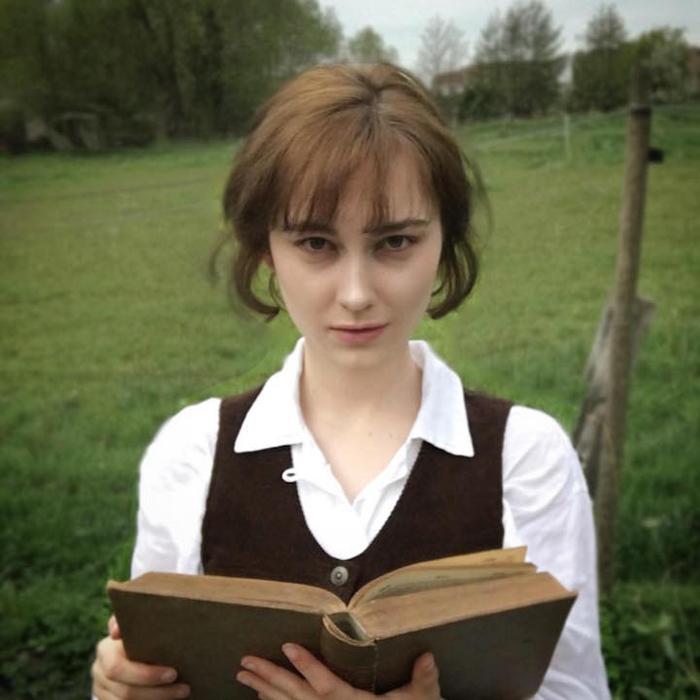 Образ Кейры Найтли в роли Элизабет Беннет в фильме *Гордость и Предубеждение*.