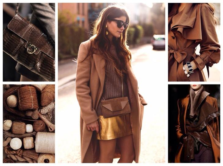 коричневая гамма в одежде