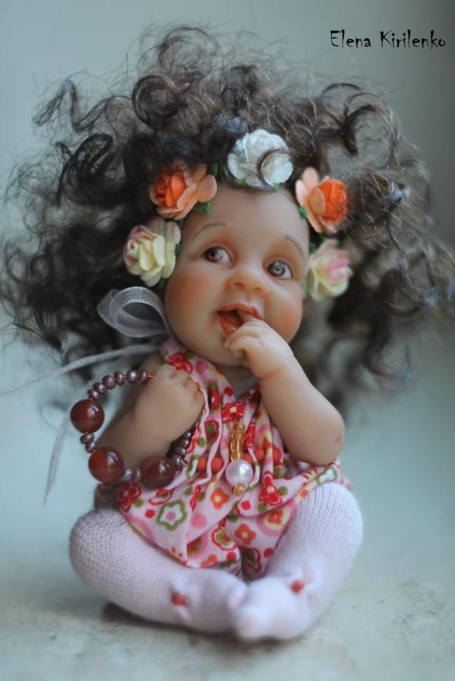 Милые куклы малышей от Елены Кириленко
