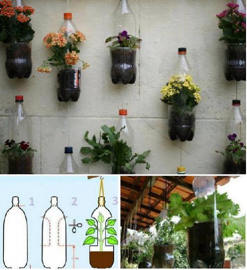 Как из пластиковой бутылки сделать кашпо для цветов своими руками