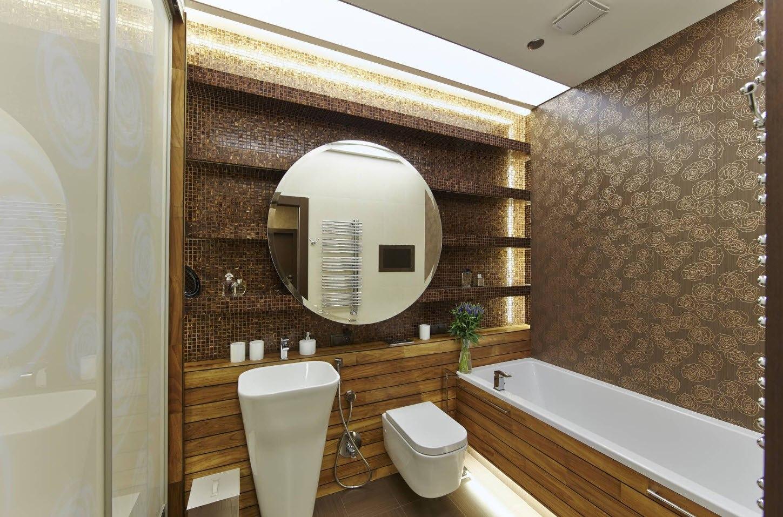 Полка для ванной: организация красивого и практичного места хранения в 100+ идеях