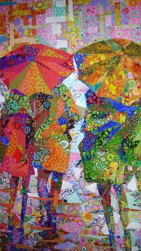"""Rain II"" by Danny Amazonas.All pieced with Kaffe Fassett fabrics. Amazing!:"