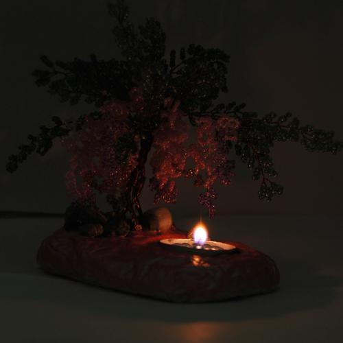 Плетение основного цветка.  Пошаговый мастер-класс изготовления лилового мака из бисера (purple poppy).