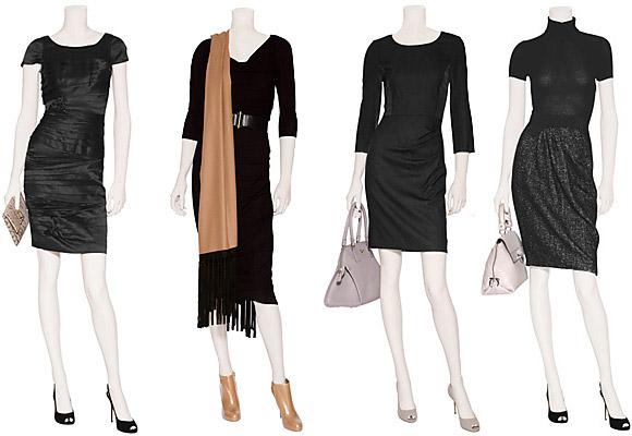 Что носить с черным платьем:…