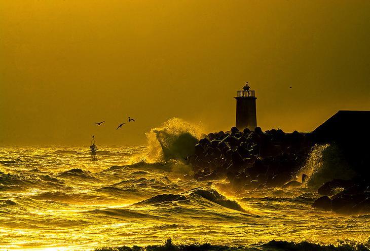 Оказывается не всегда плохо в штормовую погоду...