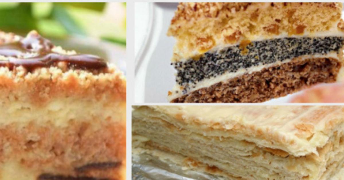 3 самых вкусных домашних торта, которые может испечь даже молодая хозяйка