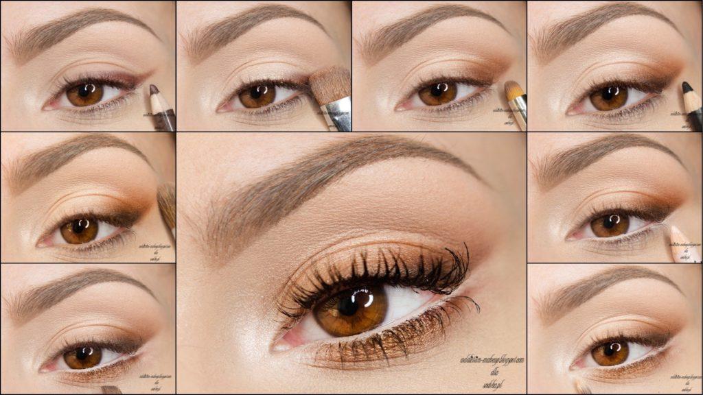 Макияж для карих глаз с тенями