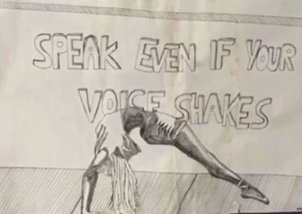 """Перед самоубийством школьница оставила рисунок, на котором было написано """"Говори, даже если голос дрожит"""" австралия, девочка, история, мир, модель, самоубийство, троллинг"""