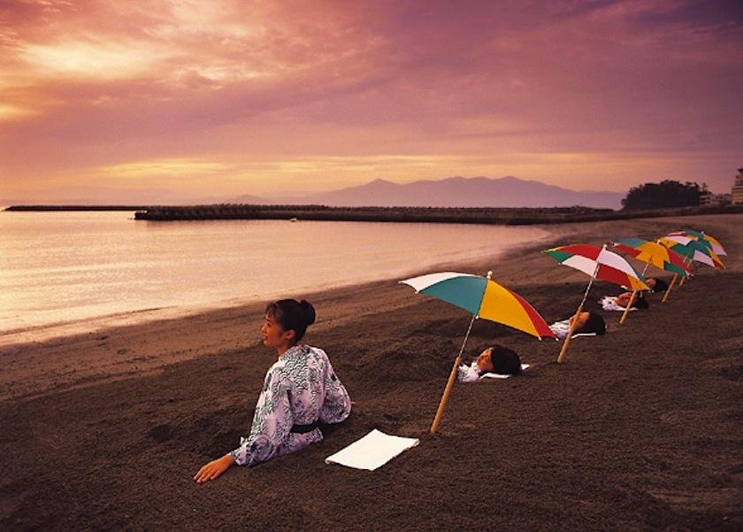 Горячие пески Ibusuki-onsen