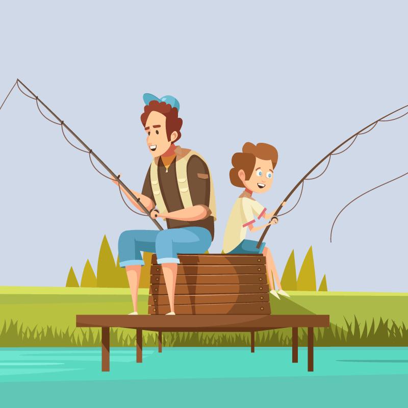 Анекдот про то, как папа ссыном нарыбалку съездили