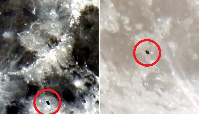 Астроном снял на видео пролетевшее возле Луны нечто похожее на звездолет