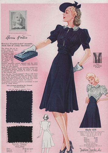 Интересные детали мод 1940-х годов (трафик)