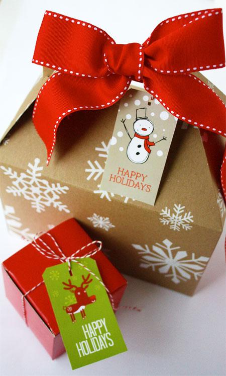 Новогодняя подарочная упаковка 80
