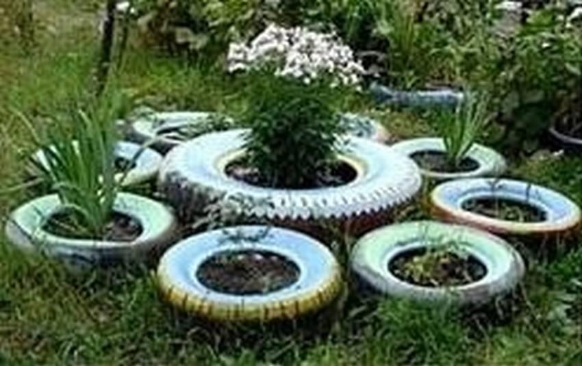 10 штук для дачи, которые можно сделать из шин