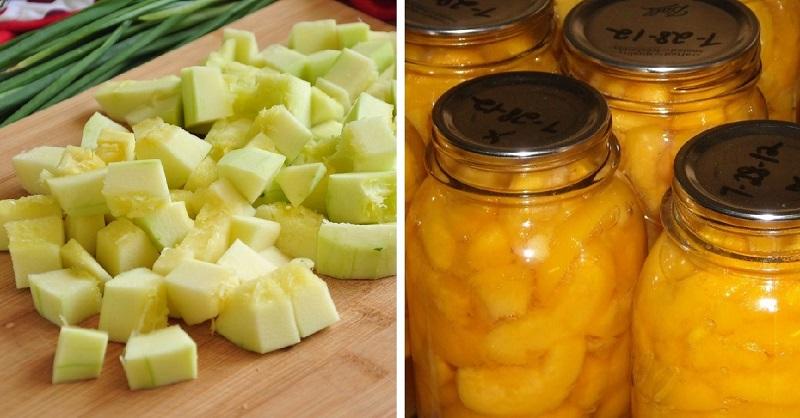 кабачки с соком ананаса