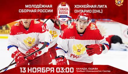 Хоккей. Молодёжные сборные. Суперсерия. Россия - Канада. 4-й матч (прямая видеотрансляция)